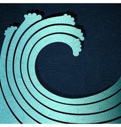 Big Wave vector image vector image