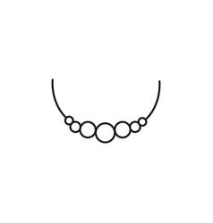 necklace icon vector image vector image