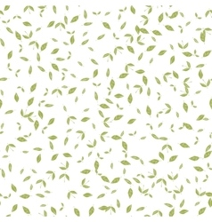 Seamless pattern with many green leaves on white vector image vector image