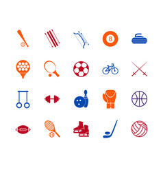 sport icon signs and symbols color line set vector image vector image