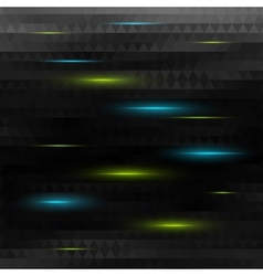 abstract black triangle background with lights vector image vector image
