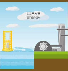 landscape related with wave energy vector image
