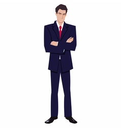 man in a business suit vector image vector image