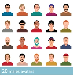 Set of avatars various male and female vector image vector image