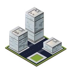 3D city block vector