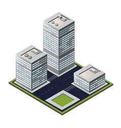 3D city block vector image