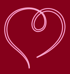 A ribbon in the form of a heart vector