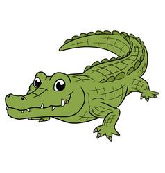 A smiling crocodile vector