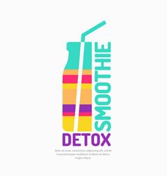 A smoothie detox vector