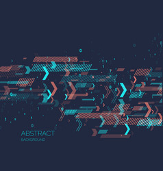 Abstract background with binary code analysis and vector