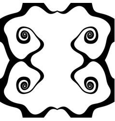abstract inkblot pattern monochrome freeform vector image