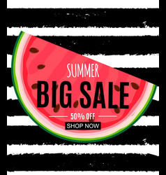 Abstract summer sale background with watermelon vector
