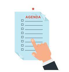 agenda concept vector image