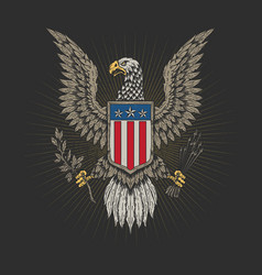American veteran emblem tees graphic vector
