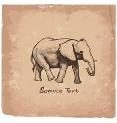 art elephant vector image