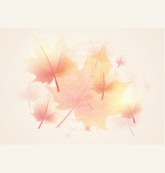 autumn background vintage vector image