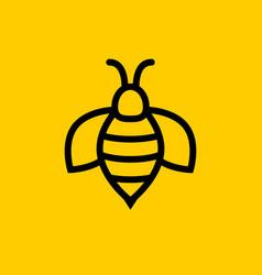 bee icon honey logo simple vector image