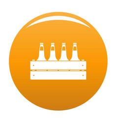 Beer crate icon orange vector