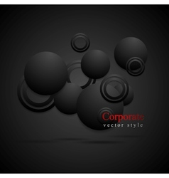 Black circles abstract background vector image