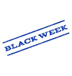 Black Week Watermark Stamp vector