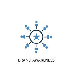 brand awareness concept 2 colored icon simple vector image
