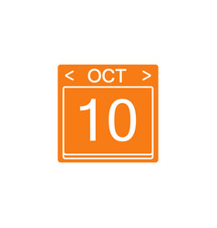 calendar flat icon modern sign for mobile vector image