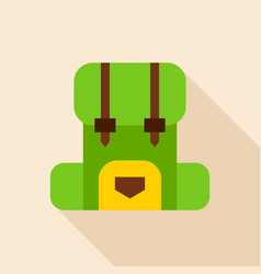 camping backpack object icon vector image