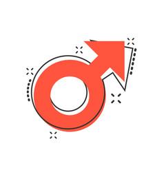 cartoon male sex symbol icon in comic style men vector image