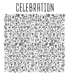 Celebration happy birthday doodles elements vector