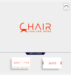 chair logo design icon icon isolated vector image