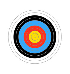 colorful score target for shooting practice vector image