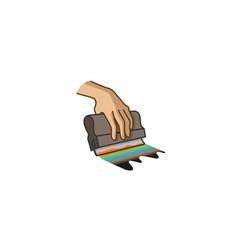 Creative squeegee silkscreen logo symbol vector