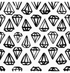 Diamond hand drawn seamless background vector