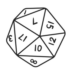 Dice outline icon cube vector