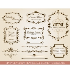 Different vintage frames vector