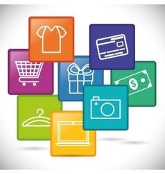 Digital marketing and ecommerce design vector