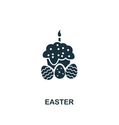 easter icon creative element design from easter vector image
