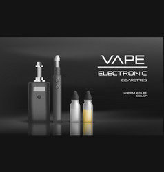 Electronic vape concept background realistic vector