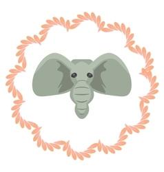 Elephant head cartoon grey vector
