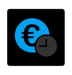 Euro credit icon vector