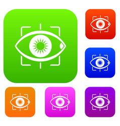 eye set color collection vector image