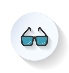 Eyeglasses flat icon vector image