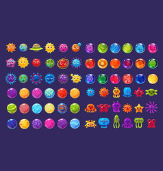 fantasy colorful icons collection for game design vector image