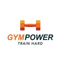 fitness gym logo sign bodybuilding club emblem vector image