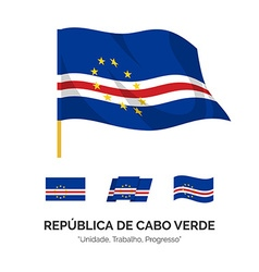 Flag of the Republic of Cape Verde vector image