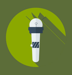 Flat modern design with shadow icon microphone vector