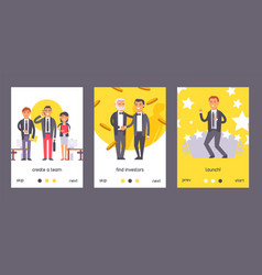 flat people businessman set posters vector image