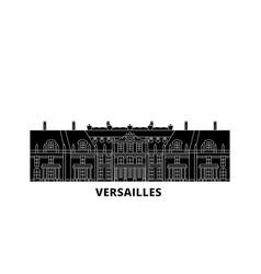 France versailles flat travel skyline set france vector