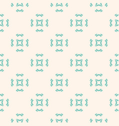 geometric ornament seamless pattern with flowers vector image