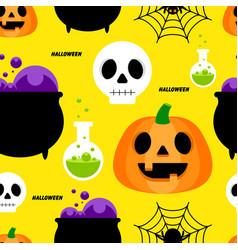 halloween seamless pattern decorative vector image